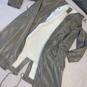 Fashion Nova Olive Fur Coat